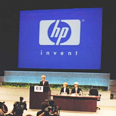 Carly presenting at HP
